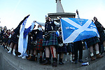 Scotland fans descend on Trafalgar Square before the FIFA World Cup Qualifying Group F match at Wembley Stadium, London. Picture date: November 11th, 2016. Pic David Klein/Sportimage