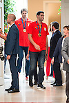 The reception of Prime Minister Mariano Rajoy to Spain national basketball team gold at EuroBasket 2015 at Moncloa Palace in Madrid, 21 September, 2015.<br /> Felipe Reyes.<br /> (ALTERPHOTOS/BorjaB.Hojas)