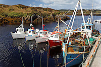 Fishing boats at dock in Bubeg, County Donegal, Republic of Ireland