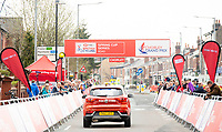 Picture by Allan McKenzie/SWpix.com - 15/04/18 - Cycling - HSBC UK British Cycling Spring Cup Road Series - Chorley Grand Prix 2018 - Chorley, England - British Cycling, HSBC, gantry, branding, fans, crowds, supporters.