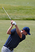 June 14th 2017, Erin, Wisconsin, USA; Jordan Spieth hits balls at the practice range during the practice round for the 117th US Open on June 14, 2017 at Erin Hills in Erin, Wisconsin