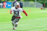 June 7, 2017: New England Patriots running back Dion Lewis (33) runs a route at the New England Patriots mini camp held on the practice field at Gillette Stadium, in Foxborough, Massachusetts. Eric Canha/CSM