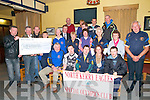 Presentation: Pictured at the presentation of a cheque for €4,818.47, the proceeds of a poker run around North Kerry In August by the North Kerry Motor Cycle Club to the North Kerry Eagles Special Olymics Club at Braosnan's Bar , Moyvane recently.