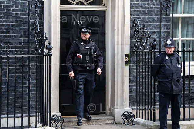 London, 18/03/2015. British Government's weekly Cabinet meeting held at 10 Downing Street before the Chancellor's announcement of the Budget for the fiscal year 2015.