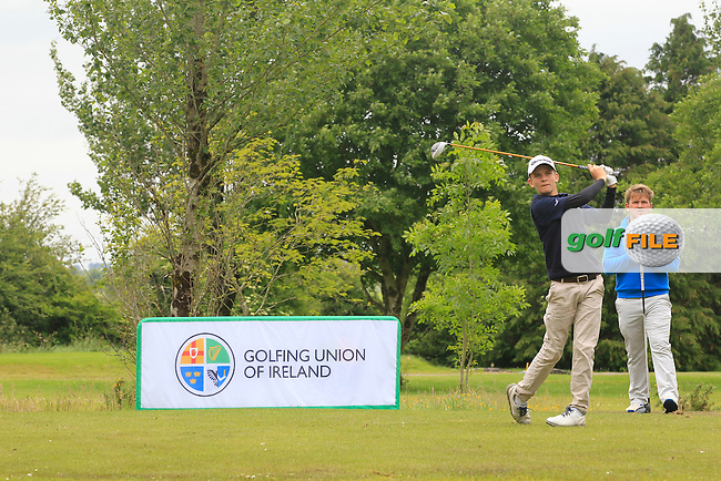 Yvan Ducler (France) on the 9th tee during Round 3 of the Irish Boys Amateur Open Championship at Tuam Golf Club on Thursday 25th June 2015.<br /> Picture:  Thos Caffrey / www.golffile.ie