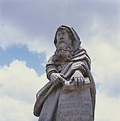 Congonhas do Campo, Brazil. Sculpture by Aleijadinho; Church of Bom Jesus de Matozinhos, Minas Gerais State.