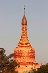 Sunset over temple, Bagan, Burma