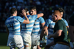 06/09/2018. Malvinas Argentinas Stadium, Mendoza, Argentina. The Rugby Championship 2018, Round 2, Los Pumas beat the Spingboks at home 32 to 19. Tomas Lavanini celebrating after end of the match. /Maximiliano Aceiton/Trysportimages