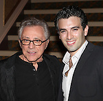 Frankie Valli & Jarrod Spector attend the reception for Frankie Valli and the Four Seasons  50th Anniversary Celebration & Broadway debut in 'The One. The Only. The Original.' at the Broadway Theatre on 10/19/2012 in New York City.