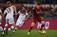 Filip Helander of Bologna and Nicolo Zaniolo of AS Roma compete for the ball during the Serie A 2018/2019 football match between AS Roma and FC Bologna at stadio Olimpico, Roma, February 18, 2019 <br />  Foto Andrea Staccioli / Insidefoto