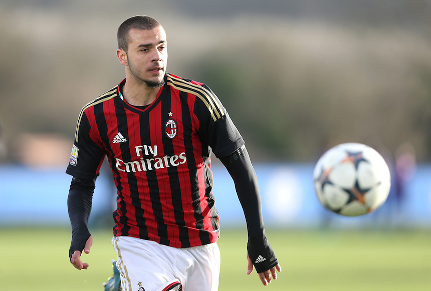 Krisztian Tamas of AC Milan<br /> <br /> Photo by Rob Newell/CameraSport<br /> <br /> Football - UEFA Youth League last 16 - Chelsea U19 v AC Milan U19 - Tuesday 25th February - Cobham - London<br /> <br /> &copy; CameraSport - 43 Linden Ave. Countesthorpe. Leicester. England. LE8 5PG - Tel: +44 (0) 116 277 4147 - admin@camerasport.com - www.camerasport.com
