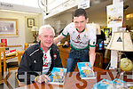Fionnbar Walsh and Tom Foley at  the Ballyseedy Garden Centre Family fun Day in aid of the Home to Rome Cycle on Sunday