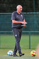 Genk's goalkeepercoach Donald Kühn pictured during a female soccer game between KRC Genk Ladies and Sporting Charleroi  on the first matchday of the 2020 - 2021 season of Belgian Women's SuperLeague , friday 28 of August 2020  in Genk , Belgium . PHOTO SPORTPIX.BE | SPP | STIJN AUDOOREN