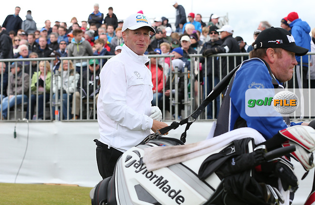 Matt Ford (ENG) heads from the first tee for Round Three of the 2015 Dubai Duty Free Irish Open Hosted by The Rory Foundation at Royal County Down Golf Club, Newcastle County Down, Northern Ireland. 30/05/2015. Picture David Lloyd | www.golffile.ie