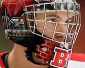 Grant Rollheiser (BU - 35) - The Boston University Terriers defeated the Harvard University Crimson 6-5 in overtime on Tuesday, November 24, 2009, at Bright Hockey Center in Cambridge, Massachusetts.