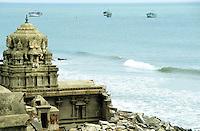 INDIA Tranquebar, in 18th century a former danish trading post in Tamil Nadu, old Hindu temple / INDIEN Tranquebar, war eine ehemalige daenische Handelsniederlassung im 18. Jh., old Hindu Tempel