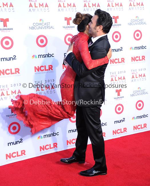 Eva Longoria and Ricardo Chavira attends The 2013 NCLR ALMA Awards held at the Pasadena Civic Auditorium in Pasadena, California on September 27,2012                                                                               © 2013 DVS / Hollywood Press Agency