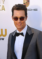Matthew McConaughey at the 19th Annual Critics' Choice Awards at The Barker Hangar, Santa Monica Airport.<br /> January 16, 2014  Santa Monica, CA<br /> Picture: Paul Smith / Featureflash