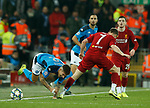 Giovanni Di Lorenzo of Napoli fouled by James Milner of Liverpool  during the UEFA Champions League match at Anfield, Liverpool. Picture date: 27th November 2019. Picture credit should read: Andrew Yates/Sportimage