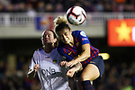 UEFA Women's Champions League 2018/2019.<br /> Quarter Finals.<br /> FC Barcelona vs LSK Kvinner FK: 3-0.<br /> Isabelle Bachor vs Maria Leon.