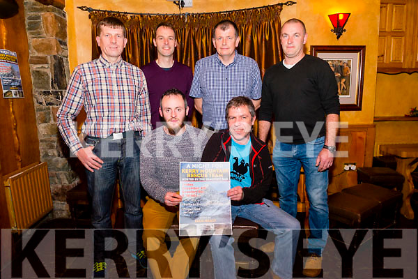 A Night For Kerry Mountain Rescue Team fundraiser in the Beaufort Bar last Friday night. Pictured Front Keith Wharton and Cahil Cuddel, Back L-R Don Murphy (chairman of Killarney mountain Rescue), Richard Stack, tom Murphy and Larry Madden.