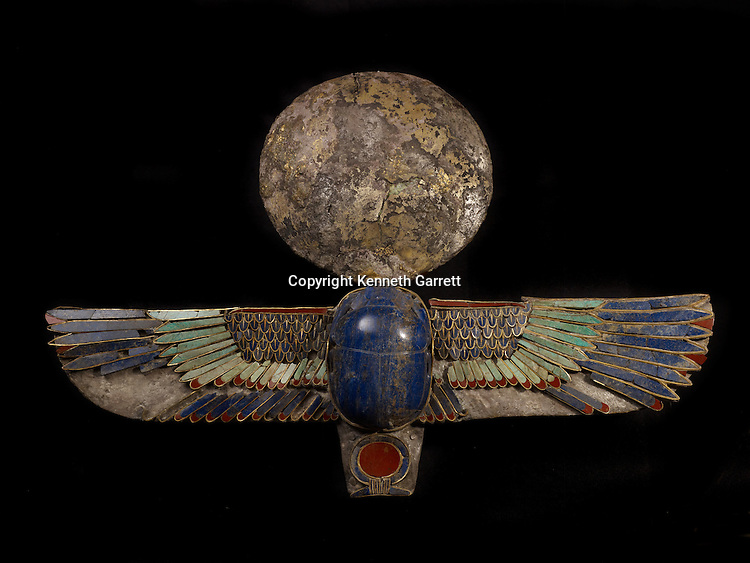 Last Pharaohs; MM7836; Egypt; The Egyptian Museum; Ptolemaic Period; Winged Scarab, Dendara Treasure, JE 46382