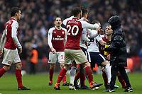 Jack Wilshere of Arsenal loses it  after Tottenham Hotspur vs Arsenal, Premier League Football at Wembley Stadium on 10th February 2018