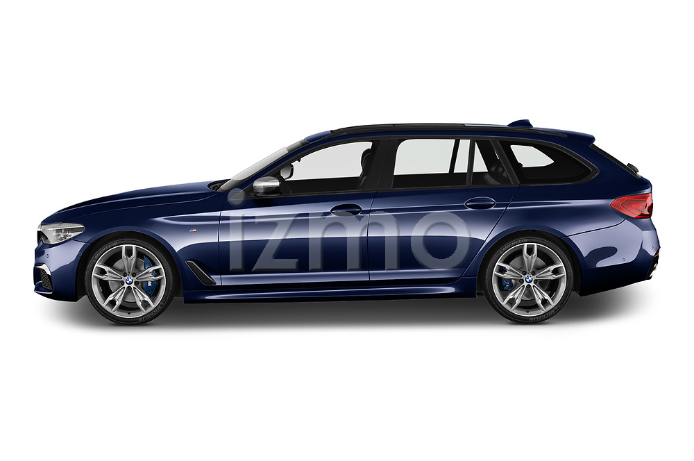 Car Driver side profile view of a 2019 BMW 5-Series - 5 Door Wagon Side View