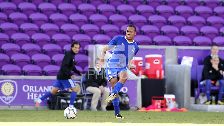 Orlando, Florida - Monday January 15, 2018: AJ Paterson. Match Day 2 of the 2018 adidas MLS Player Combine was held Orlando City Stadium.