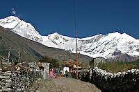 Kalopani, a small town between Ghasa and Tukuche in Nepal, Annapurna Circuit.  Altitude: 2.530 mts.