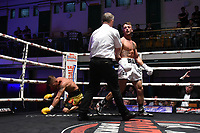 Brad Pauls (white shorts) defeats Darren Cordona during a Boxing Show at York Hall on 8th June 2019