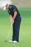 Emiliano Grillo (ARG) putts on the 5th green during Saturay's Round 3 of the 2014 BMW Masters held at Lake Malaren, Shanghai, China. 1st November 2014.<br /> Picture: Eoin Clarke www.golffile.ie