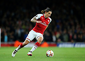 14th September 2017, Emirates Stadium, London, England; UEFA Europa League Group stage, Arsenal versus FC Cologne; Hector Bellerin of Arsenal brings the ball forward