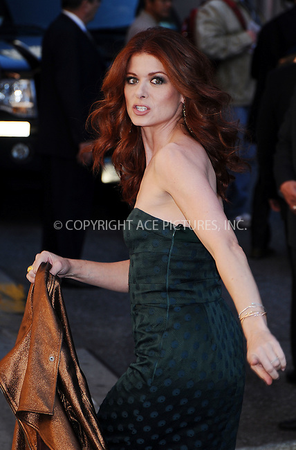 WWW.ACEPIXS.COM . . . . .  ....October 7 2008, New York City....Actress Debra Messing made an appearance at the 'Late Show with David Letterman' on October 7 2008 in New York City....Please byline: AJ Sokalner - ACEPIXS.COM..... *** ***..Ace Pictures, Inc:  ..te: (646) 769 0430..e-mail: info@acepixs.com..web: http://www.acepixs.com
