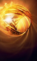Glowing gold abstract pattern