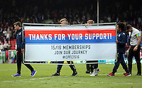 Pictured: A Thank You For Your Support banner<br />