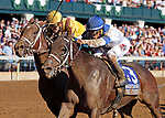 "October 05, 2019 : #3 Spiced Perfection and jockey Javier Castellano win the 39th running of The Thoroughbred Club of America Grade 2 $250,000 ""Win and You're In Breeders' Cup Filly & Mare Sprint Division"" for owner Pantofel Stable, Wachttel Stable, and PEter Deutsch and trainer Peter Miller at Keeneland Racecourse in Lexington, KY on October 04, 2019.  Candice Chavez/ESW/CSM"