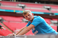 Danny Rowe (AFC Fylde) during the Vanarama National League Playoff Final between AFC Fylde & Salford City at Wembley Stadium, London, England on 11 May 2019. Photo by James  Gil.