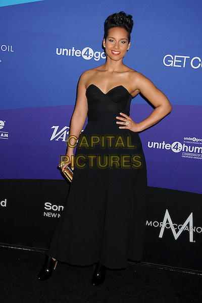 27 February 2014 - Culver City, California - Alicia Keys. Unite4:good and Variety Magazine Present &quot;Unite4:humanity&quot; held at Sony Pictures Studios. <br /> CAP/ADM/BP<br /> &copy;Byron Purvis/AdMedia/Capital Pictures