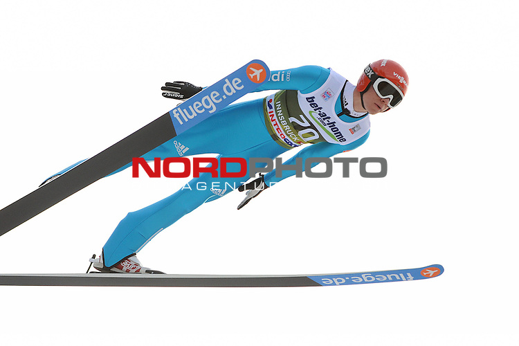 Innsbruck, Austria 03.01.2014 <br /> 2013-14 Vierschanzentournee, <br /> FIS Ski Jumping World Cup <br /> Andreas Wellinger of Germany in action during the FIS Ski Jumping World Cup Vierschanzentournee on January 3, 2014 in Innsbruck, Austria.<br /> <br /> Foto &not;&copy; nph / Pier Paolo Piciucco