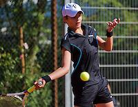 Netherlands, Dordrecht, August 03, 2015, Tennis,  National Junior Championships, NJK, TV Dash 35, Anouk Pruijmboom<br /> Photo: Tennisimages/Henk Koster
