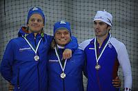 SCHAATSEN: GRONINGEN: Sportcentrum Kardinge, 02-02-2013, Seizoen 2012-2013, Gruno Bokaal, Koen Verweij, Frank Hermans ©foto Martin de Jong