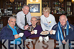 DAFFODIL: Supporting daffodil day in the Imperial Hotel Tralee on Friday by having coffee L-r: Christy O'Connor, Joe McCarthy (manager), Joe O'Keeffe, Mary Higgins and Denis Stack.................................. ....