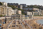 Playa de la Concha Beach, San Sebastian, Basque Country, Spain