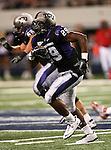 TCU Horned Frogs running back Matthew Tucker #29 in action during the game between the Oregon State Beavers and the TCU Horned Frogs at the Cowboy Stadium in Arlington,Texas. TCU defeated Oregon State 30-21.