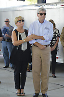 Gulfport, MS 8/28/15 Mississippi Governor Phil Bryant and first Lady Deborah Bryant listen to the singer Marty Stewart perform during the 10th Anniversary Hurricane Katrina event. President George Bush joined Mississippi Governor's Haley Barbour and Governor Phil Bryant  for a first responders event to commemorate the 10th Anniversary of Hurricane Katrina in Gulfport Mississippi. Photo ©Suzi Altman