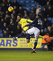 Blackburn Rovers' Danny Graham and Millwall's Mahlon Romeo<br /> <br /> Photographer Rob Newell/CameraSport<br /> <br /> The EFL Sky Bet Championship - Millwall v Blackburn Rovers - Saturday 12th January 2019 - The Den - London<br /> <br /> World Copyright &copy; 2019 CameraSport. All rights reserved. 43 Linden Ave. Countesthorpe. Leicester. England. LE8 5PG - Tel: +44 (0) 116 277 4147 - admin@camerasport.com - www.camerasport.com