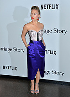 """LOS ANGELES, USA. November 06, 2019: Scarlett Johansson at the premiere for """"Marriage Story"""" at the DGA Theatre.<br /> Picture: Paul Smith/Featureflash"""