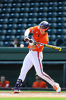 Outfielder Steven Duggar (9) of the Clemson Tigers in a fall Orange & Purple intrasquad scrimmage on November 2, 2013, at Fluor Field at the West End in Greenville, South Carolina. Orange won 7-1.(Tom Priddy/Four Seam Images)