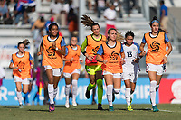 Bradenton, FL - Sunday, June 10, 2018: USA during a U-17 Women's Championship match between the United States and Haiti at IMG Academy.  USA defeated Haiti 3-2 to advance to the finals.